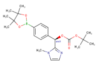 rac-tert-butyl (R)-(1-methyl-1H-imidazol-2-yl)[4-(4,4,5,5-tetramethyl-1,3,2-dioxaborolan-2-yl)phenyl]methyl carbonate